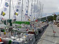 Lineup of TRANSAT yachts