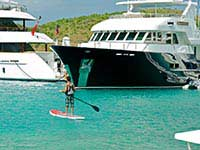 Paddleboard amongst the yachts