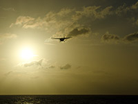 Turboprop approaching St. Martin