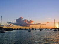 Marigot at dusk