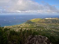 Looking down on Statia