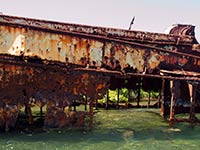 Rusting Hulk in the lagoon