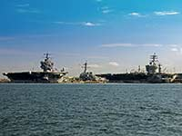 Aircraft Carriers at Norfolk Naval Station