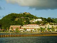 Old Fort St. Louis overlooking Marigot