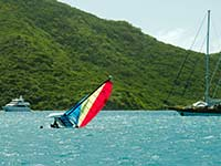Righting a Hobie Cat