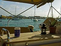 Typical cockpit view in Marigot