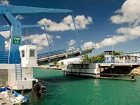Simpson Bay drawbridge opening