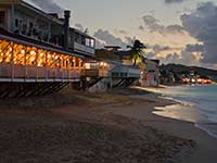 Beachfront restaurants in Grand Case