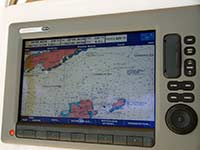 Chartplotter view while sailing