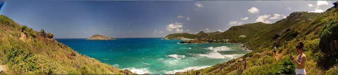 St. Barths east shore panorama