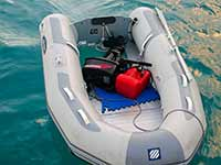 Dinghy outboard transport