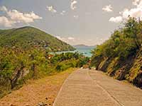 Steep road up from Great Harbour