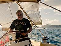 Paul at Zanshin's helm