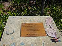 Sandy Cay memorial plaque