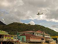 Final approach to Grand Case