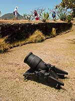 Defensive cannon in Fort St. Louis