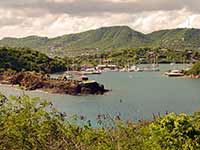 Fort Berkeley guarding English harbour