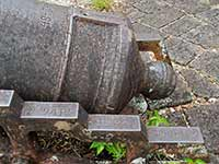 Cannon markings in Cabrits