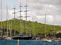 Maltese Falcon and others at the dock