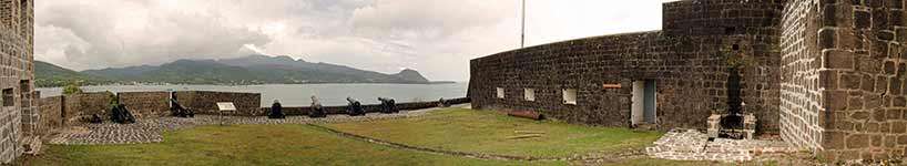 Fort Shirley gun emplacement panorama
