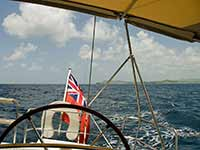 Sailing the south side of Antigua