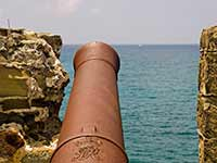 Cannon guarding the entrance