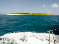 Sandy Cay seen from the sea