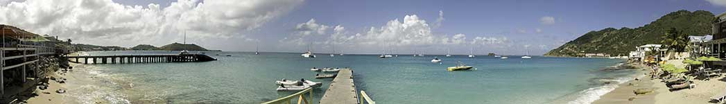 Grand Case dinghy dock Panorama