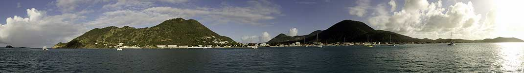 Grand Case panorama from the boat
