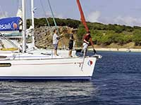 Charter sunsail mooring in Tintamarre