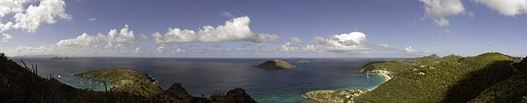 Top of St. Barths panorama