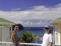 Philaine and Michaela in St. Barths