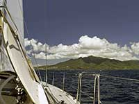 Sailing towards Guadeloupe