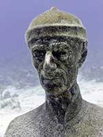 Jacques Cousteau underwater