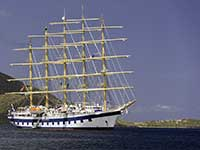 Royal Clipper at anchor