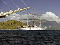 Sea Cloud in the Saintes