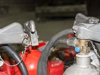 Fire extinguishers prior to use