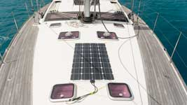Temporary solar panel installation on deck