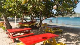 Benches at Trellis Bay