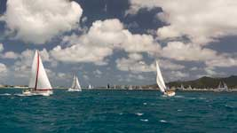 Racing in Simpson Bay