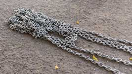 Chain extension for the start boat