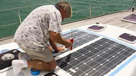 Final caulking of the Solbian panels