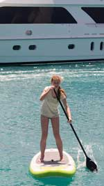 Alyssa on the paddleboard