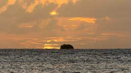 Anse Colombier sunset
