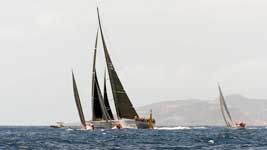 Making the turn at Les Voiles de St. Barths