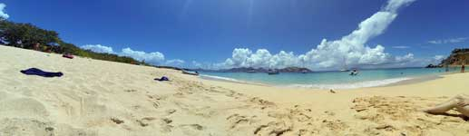 Tintamarre beach Panorama