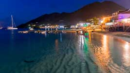 Grand Case shore by night