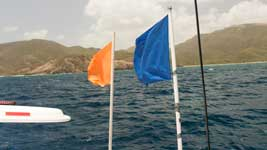 Committee Boat flags