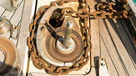 Rusty Chain and Winch