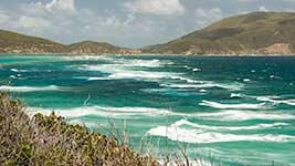 Rough waters off Virgin Gorda